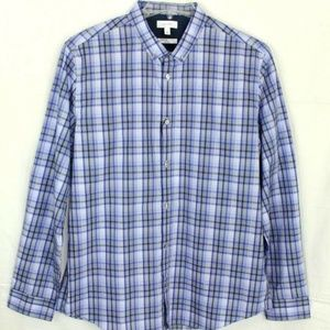 Calvin Klein Men's Blue Infinite Cool Plaid Cotton